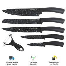 Juego de 5 cuchillos de cocina + 1 pelador - Diseño granito Alta calidad
