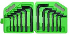 12pc JUMBO METRIC SAE Hex Keys Set Allen Wrenches MM Standard Large Tools 92155