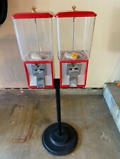 2 Northwestern Model 60 Gumball Candy Vending Machine Withstand With Keys