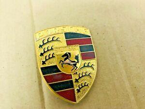 OEM Porsche 911 912 914 924 928 930 944 968 Crest Front Hood Emblem Damaged