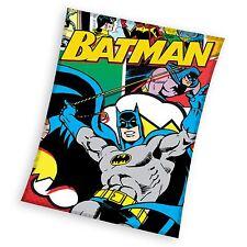BATMAN FLEECE BLANKET KIDS THEMED BEDROOM NEW 100% OFFICIAL FREE P+P