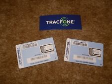 2 Standard Nano or Micro Sim Cards For use with At&T Compatible Phones ( Byop )