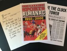 Back to the Future reproduction Save the Clock Tower Grays Sports Almanac letter