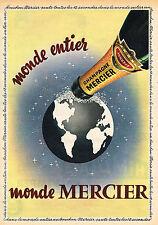 PUBLICITE ADVERTISING 035  1955 MERCIER champagne MONDE
