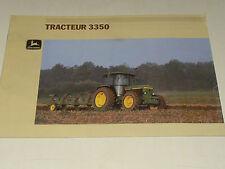 Prospectus Tracteur JOHN DEERE 3350 brochure  tractor traktor prospekt trattore