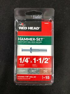 35203 Red Head 15-Pack 1-1/2-in x 1/4-in Nail-Drive Anchors