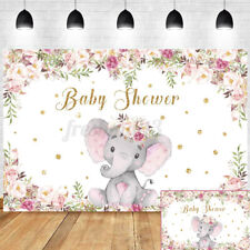 Elephant Baby Shower Birthday Party Photo Backdrop Photography Background