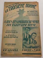 Partition vintage sheet music ANTON KARAS : Le Troisième Homme * 40's Film
