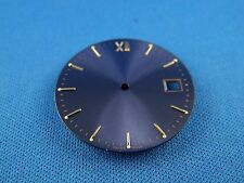 Blank Wrist Watch Dial Part -Blue- 29.5mm -Swiss Made- Date at 3 - ETA 2824 #311