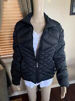 Womes EDDIE BAUER Goose Down Jacket Full Zip Up Puffer Jacket Coat Sz L