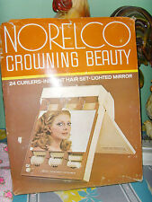 Norelco Crowning Beauty Curlers Instant Hair Set Lighted Mirror vintage WORKS