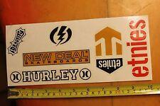 Etnies New Deal Hurley Skateboards Vintage Skateboard Sticker Sheet