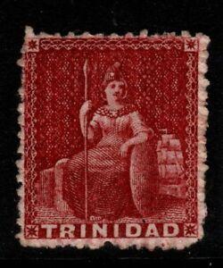 TRINIDAD SG32 1859 1d CARMINE-LAKE UNUSED