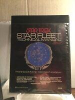 Star Trek Star Fleet Technical Manual; 1975 First Printing! StarTrek Trekkie