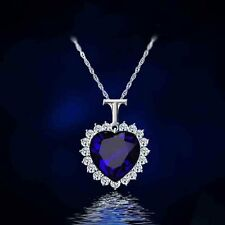Fashion Women Classics Heart of The Sea Crystal Pendant Necklace New Jewelry