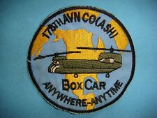 "VIETNAM WAR PATCH, US 178th AVIATION CO. (ASH) BOX CAR ""ANYWHERE - ANYTIME"""