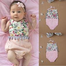 Newborn Infant Baby Girl Bodysuit Floral Romper Jumpsuit Outfit Playsuit Clothes