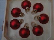 Palla di Natale in vetro ROSSO 4cm albero addobbo  palle vintage made in Germany