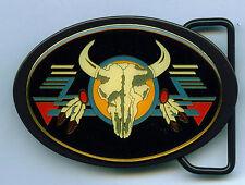 Longhorn Buckle Gürtelschnalle Büffel Buffalo Western Indianer Southwest