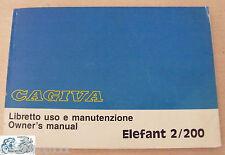 CAGIVA libretto uso e manutenzione Elefant 2/200