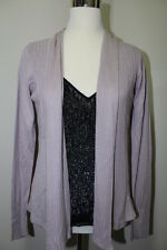 New Romy Women's Long-sleeve Open Front Knit Cardigan Jacket -Purple-Medium