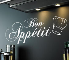 Bon Appetit | Kitchen Dining Room Wall Sticker Quote Decal Vinyl Words | WQ93