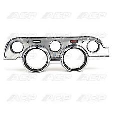 1967 Ford Mustang Instrument Bezel, Deluxe Brushed Aluminum Finish