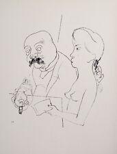 George Grosz Berlin Nude Akt Erotic Cigar Tobacco Breast Smoking Brothel Chest