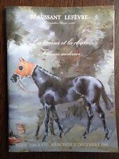 Catalogue de vente Course hippique Hippisme Cheval Chasse Tableau Moderne
