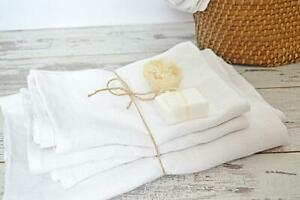 Soft THICK 100% linen towel set stonewashed flax Bath hair hand / face towels