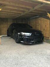 For Audi RS6 C7 4G Performance Front Lower Bumper Valance Lip Spoiler Splitter