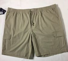 Chaps Men's Cargo Size 4XB Elastic Side Pull On Short Big & Tall Plums brown New