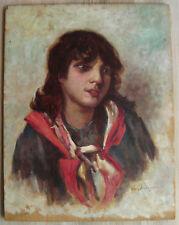 Huile sur panneau école française début XXème signée Paul Audoyer portrait