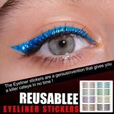 10/40 Pcs Reusable Eyeliner Stickers Eyelid Line Stick Cat Double Eyelid Mak HB