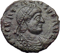 Gratian 367AD  Ancient Roman Coin Labarum Chi-Rho Christ monogram  i29911