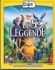 Blu-ray 3D DreamWorks **LE 5 LEGGENDE** nuovo slipcase 2012