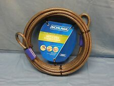NEW Schlage 999270 Cable Lock/ Pull Flexible Steel Cable 3/8-Inch X 30-Foot