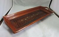 Brass inlay wood cracker serving tray made in India