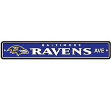 "Baltimore Ravens Ave Street Sign 4""x24"" NFL Football Team Logo Avenue Man Cave"