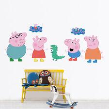 LARGE PEPPA PIG 7 Wall Stickers Kids Bedroom Nursery Decor Mural Decal Vinyl NEW