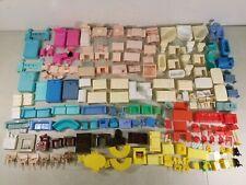 Huge 170 Piece Lot Vtg. Dollhouse Miniature Furniture Marx, Superior, Unbranded
