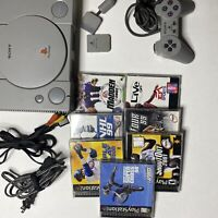 Sony Playstation 1 SCPH-7501 Console w/ Cables, 7 Games And Controller Tested