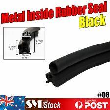 3Meters Car Sharp Bulb Push on Rubber Edge Seals Trim Pinch Weld Strip Grip 18mm