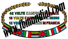 ADESIVO ORIGINALE MONDIAL ALLORO SERBATOIO DECAL STICKERS MOTOR BIKE