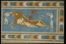 067077 Bull Leaping Fresco Knossos Crete A4 Photo Print