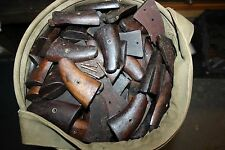 WW2 SMITH & WESSON VICTORY MODEL 38 REVOLVER WOODEN GRIPS Set