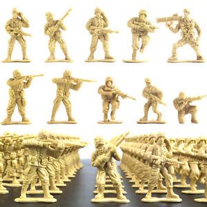 100x   Plastic Toy 5cm Soldiers Army Men Figures Various Poses Colors