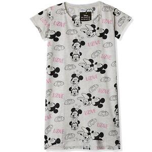 Disney Minnie Mickey Mouse 100% Cotton Tunic Nightwear Tops Girls Teenagers