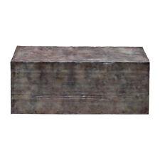Rustic Reclaimed Steel Block Coffee Table | Industrial Vintage Style Recycled