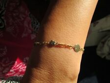 18ct Gold and Diamond Bracelet Fine Link SOLID YELLOW GOLD #267